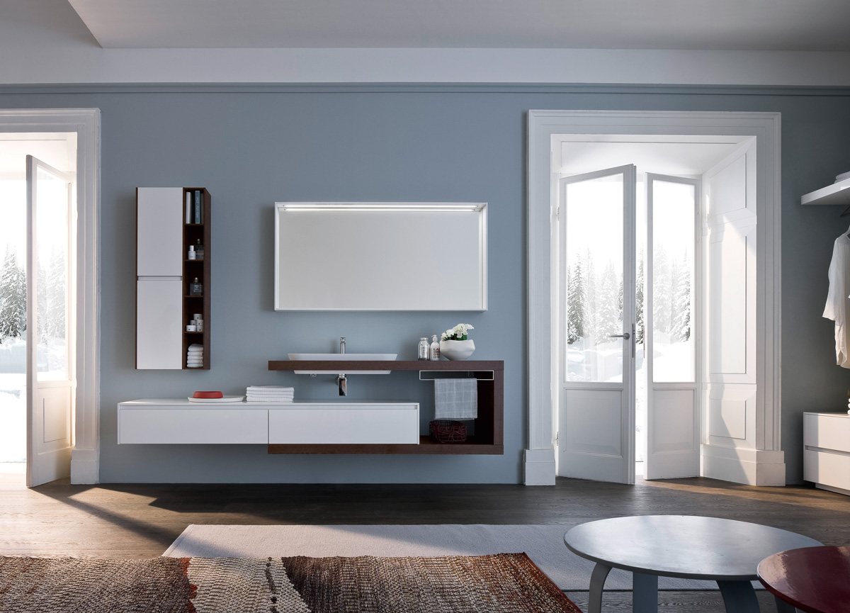 Come scegliere il colore delle pareti del bagno for Pareti colorate moderne
