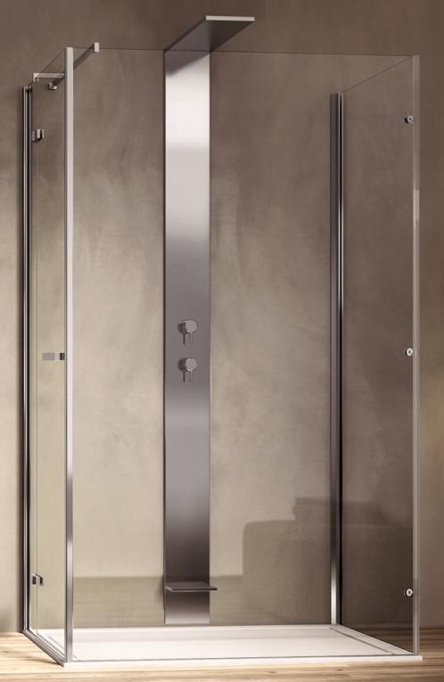 Box doccia centro parete porta battente disenia smart - Box doccia porta battente ...