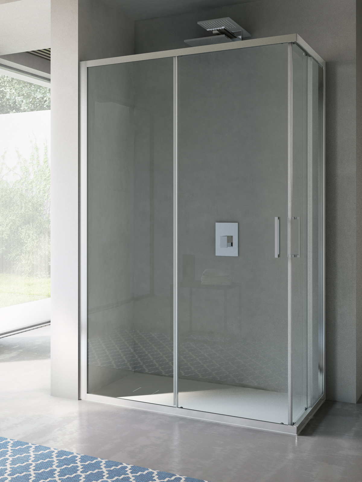 Disenia cabina doccia free con telaio porta battente - Porta cabina doccia ...