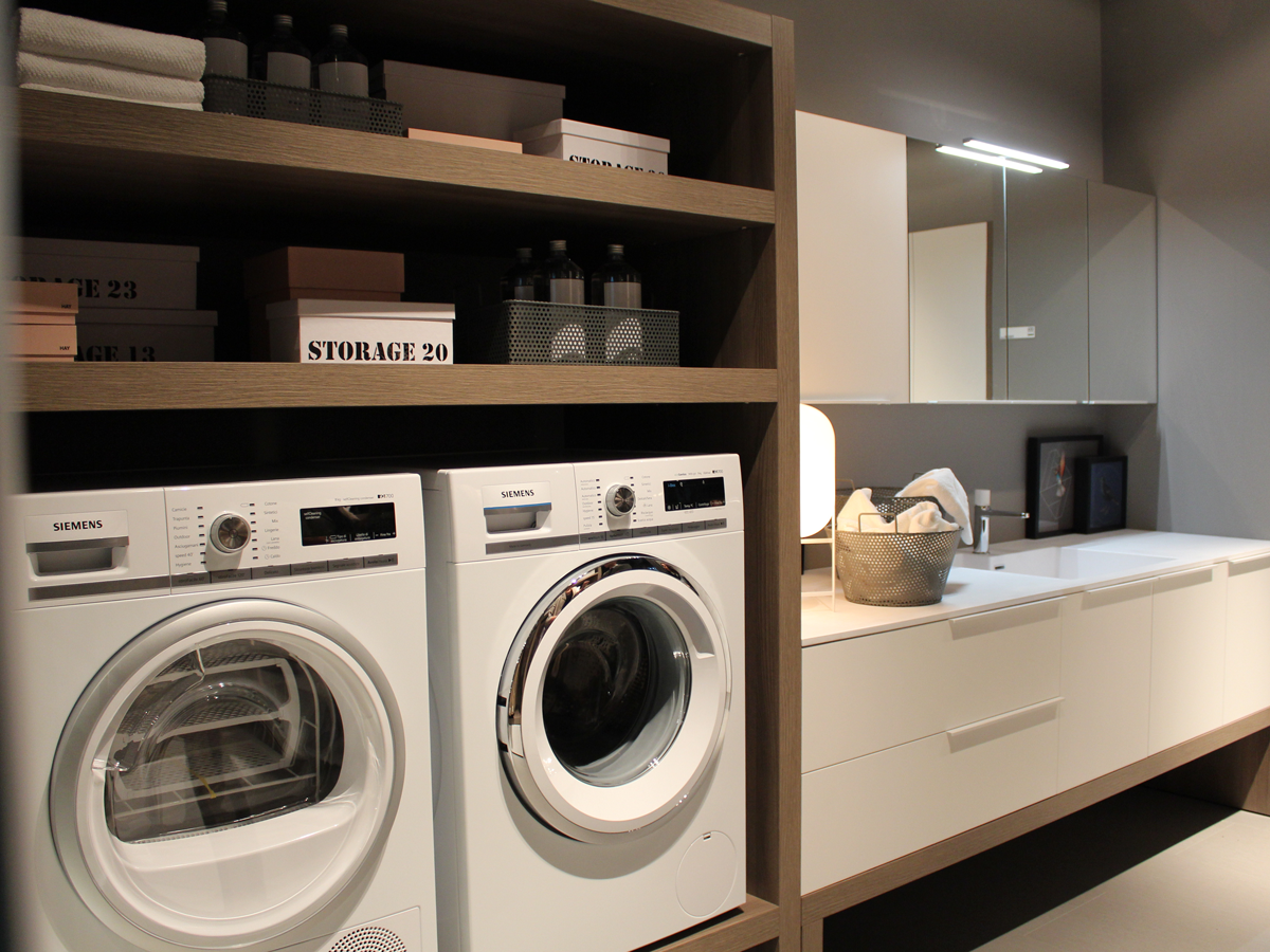 Spazio time lavanderia ideagroup cersaie 2015 ideagroup blog - Bagno di servizio con lavanderia ...