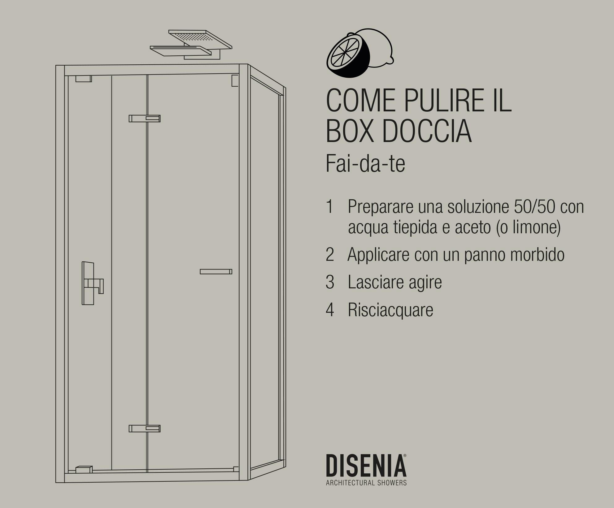 Consigli per pulire il box doccia ceramiche bm - Il box doccia ...