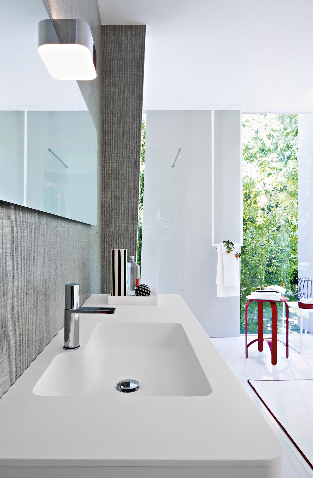 Mobiletto lavabo integrato per bagno da terra - Mobiletto bagno da appendere ...