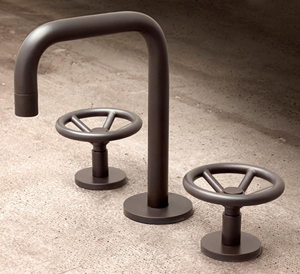 rubinetteria stile industrial chic arredo bagno - ideagroup blog - Arredo Bagno Rubinetteria