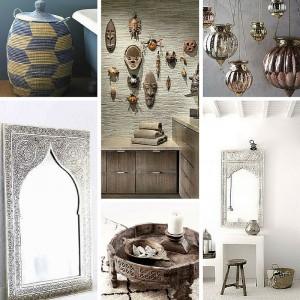 accessori arredo bagno stile etnico specchi arabo africano ...