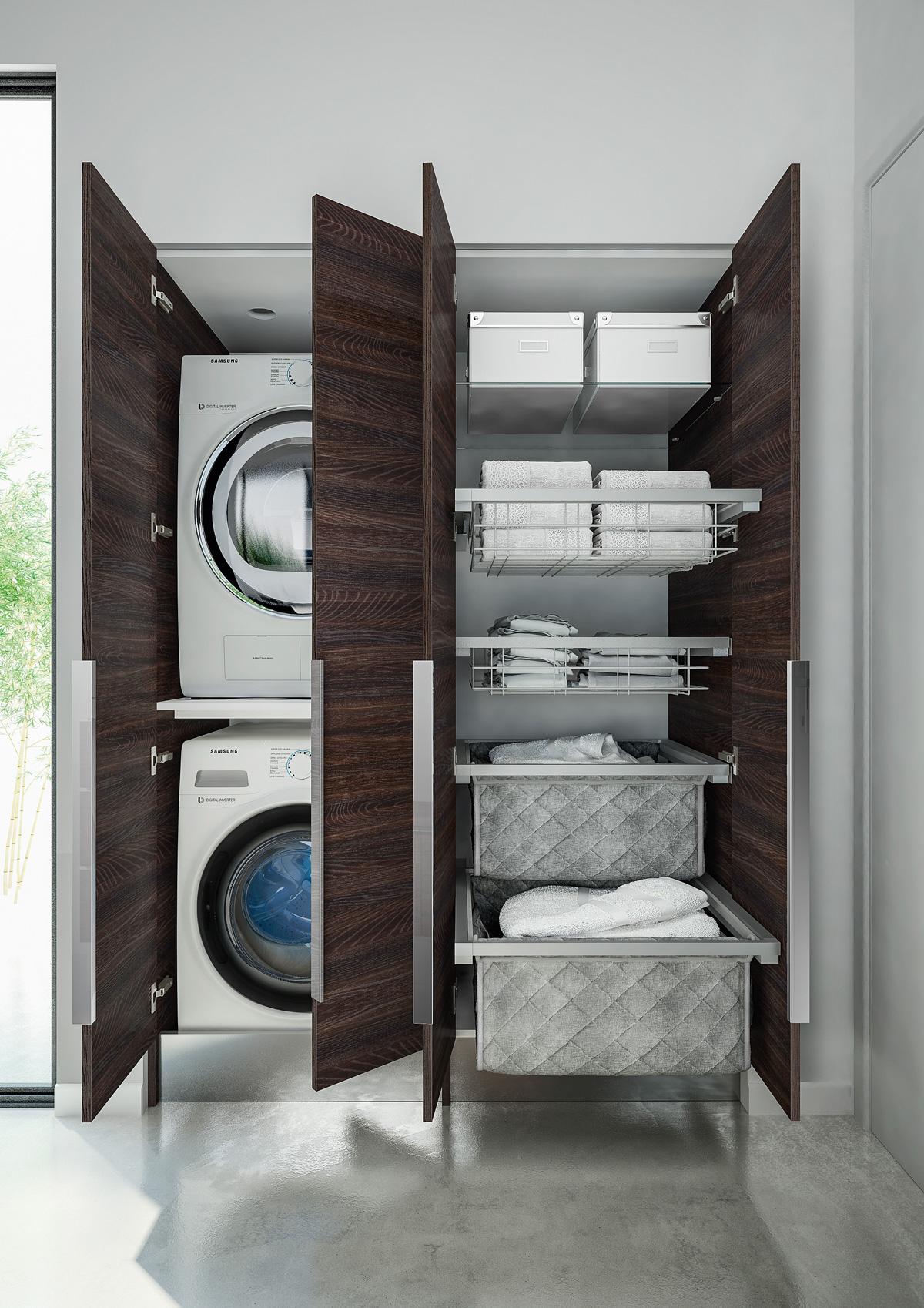 Asciugatrice sopra lavatrice kit - Mobile porta lavatrice ...