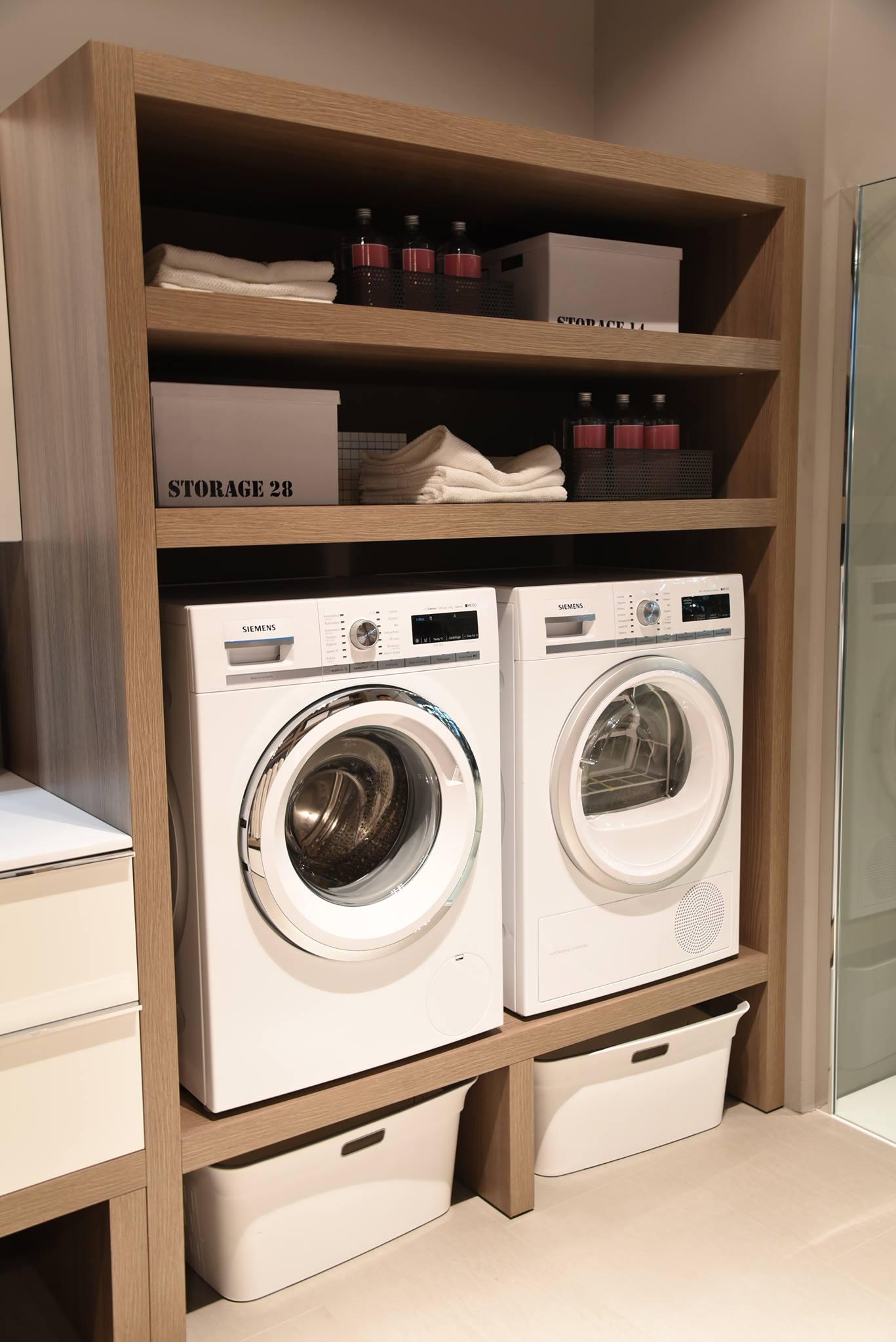 Ottimizzare gli spazi come arredare un bagno lavanderia - Arredo bagno semplice ...