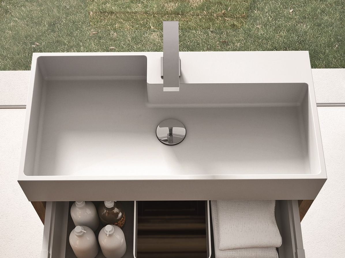 lavabo aquatek cubik ideagroup materiale resina pulizia - Ideagroup Blog