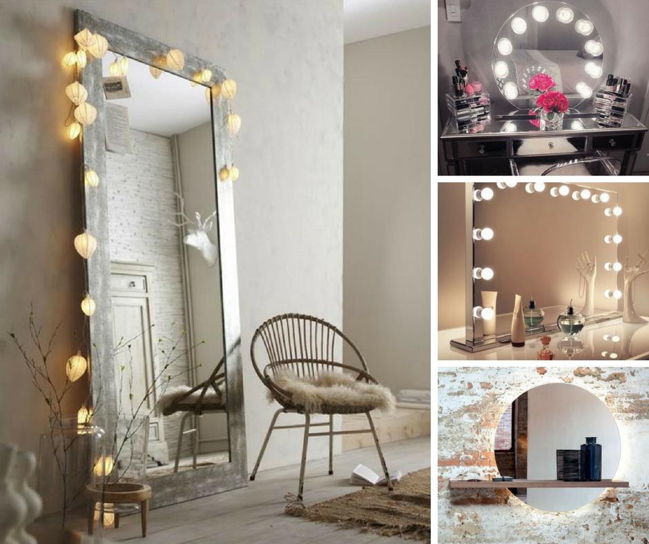 Come decorare e personalizzare uno specchio ideagroup blog - Specchio con luci ...