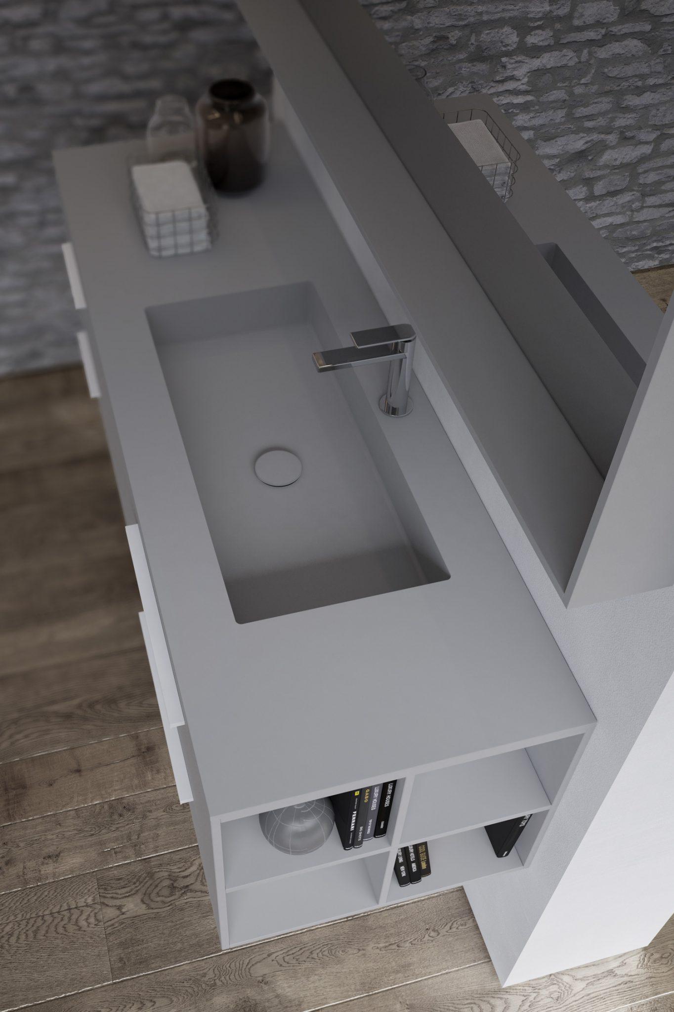 sense-ideagroup-arredo-bagno-moderno-grigio-lavabo-integrato ... - Arredo Bagno Grigio
