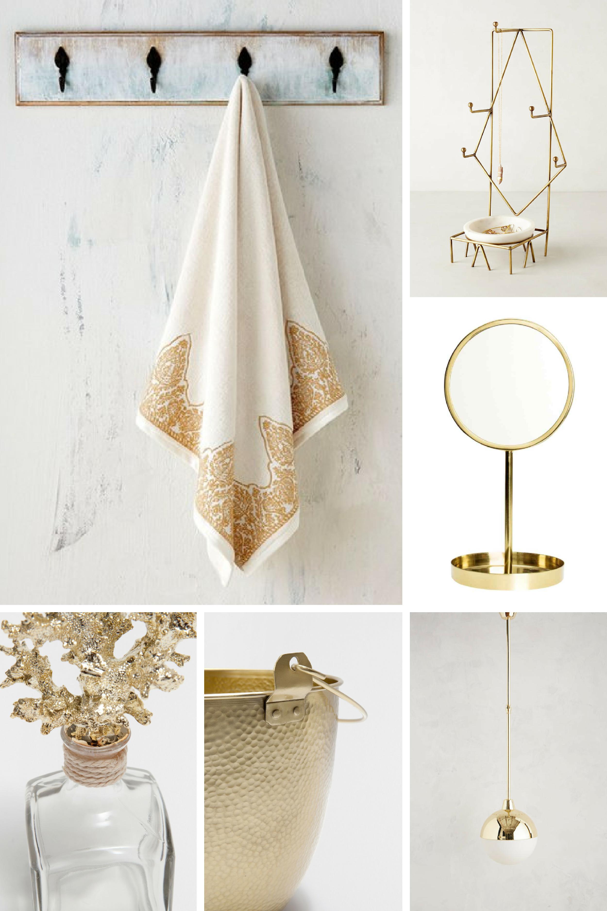 tendenza arredamento: tocchi dorati nella sala da bagno ... - Sala Da Bagno Arredo