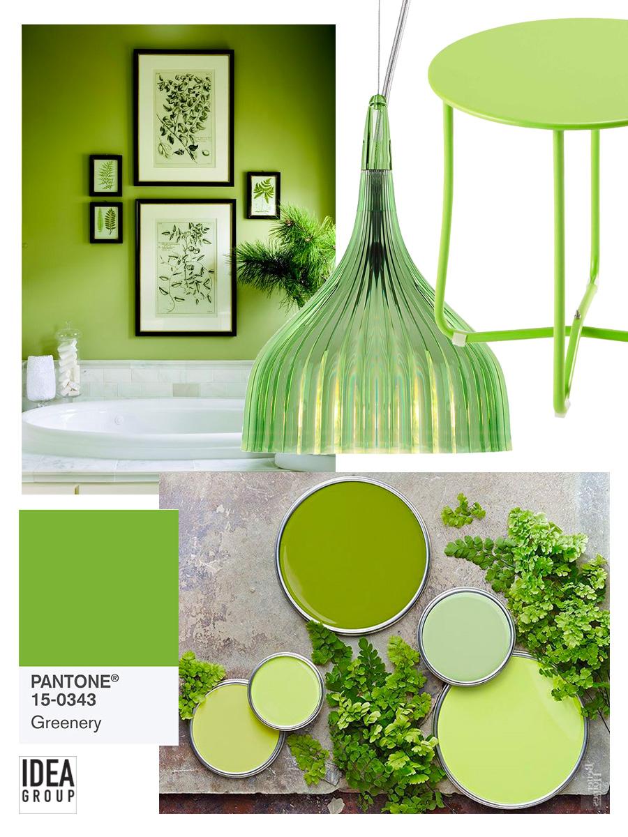 Greenery il colore dell 39 anno 2017 anche nel bagno for Verde pantone 2017