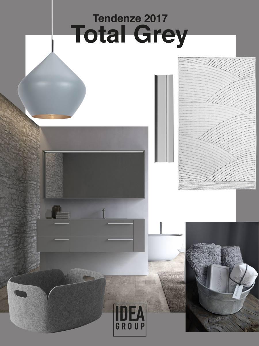 Tendenze arredamento 2017 ambienti total grey ideagroup for Tendenze arredo bagno 2017