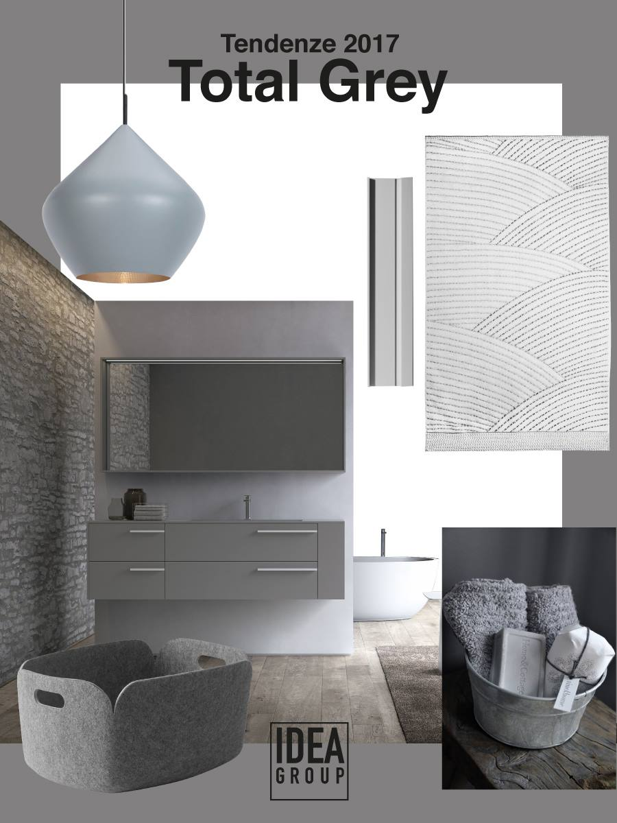 Tendenze arredamento 2017 ambienti total grey ideagroup blog - Arredo bagno grigio ...