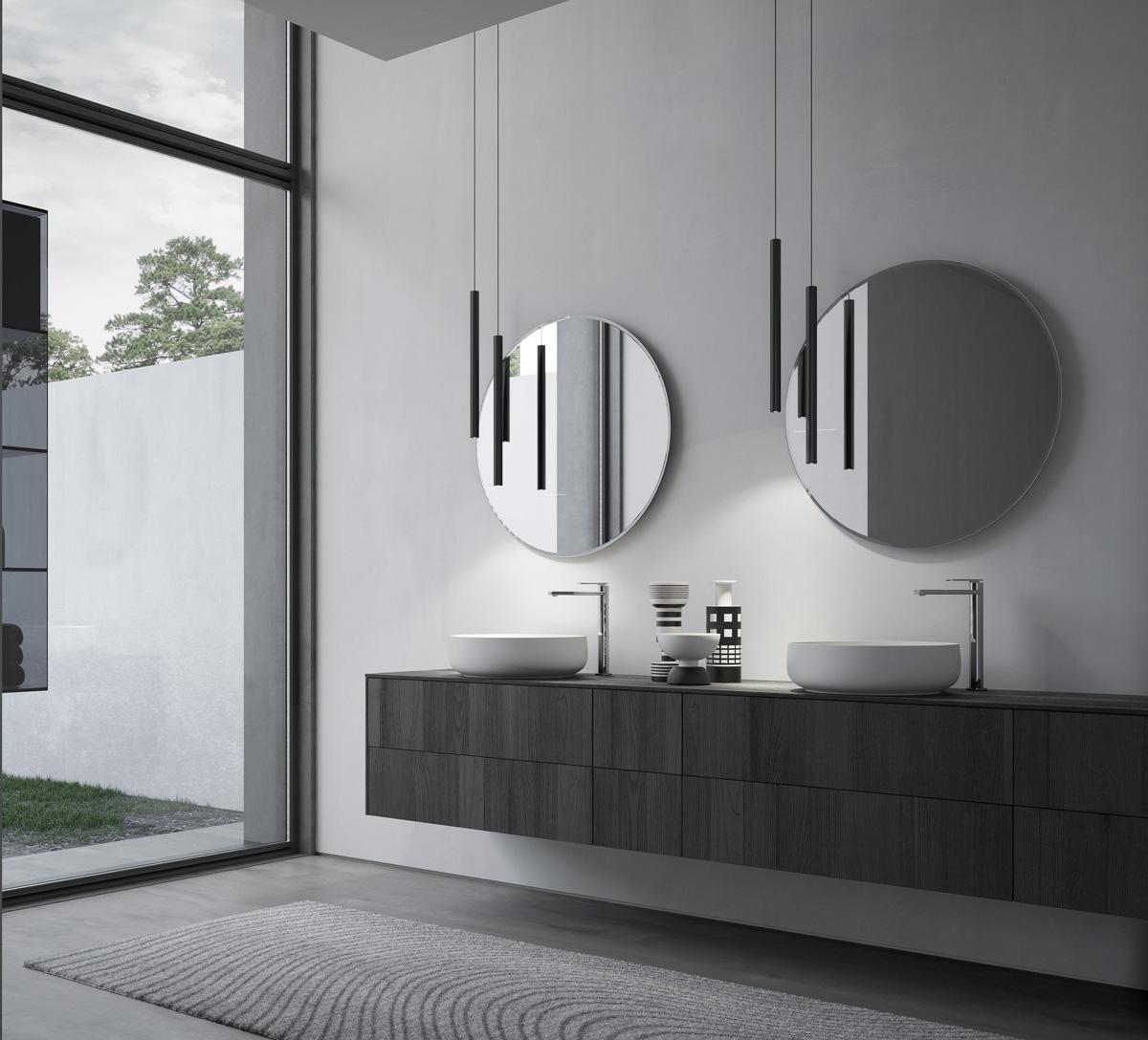 Forme rotonde e morbide per l 39 arredamento 2017 ideagroup for Finestre rotonde del bagno