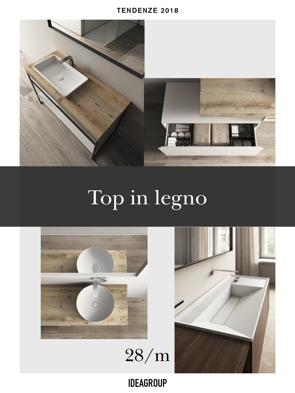 Top in legno: l\'arredo bagno di tendenza - Ideagroup Blog