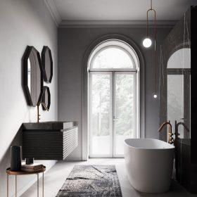 Come arredare un bagno industrial chic ideagroup blog - Lampadari per bagno ...