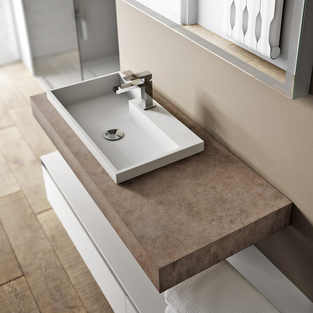 Mobile bagno sospeso cubik ideagroup for Top arredo