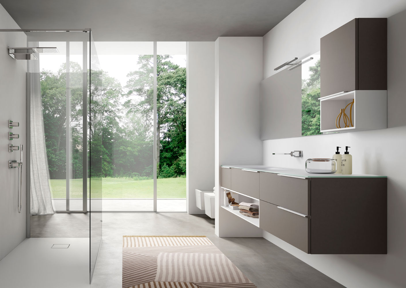 Mobili bagno moderni my time ideagroup for Layout di casa moderno