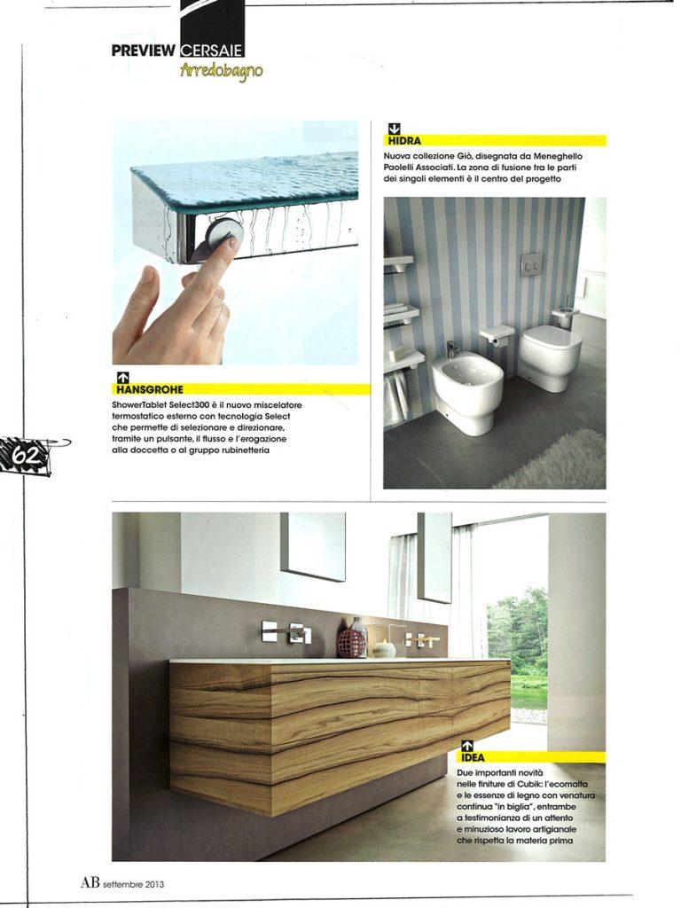 Ab abitare il bagno september 2013 - Il bagno magazine ...