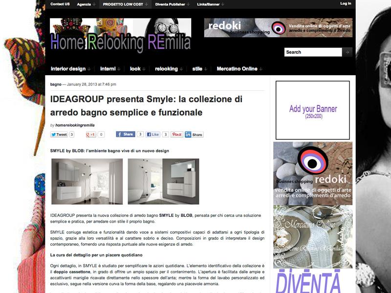 rassegna stampa web smyle - Blob Arredo Bagno