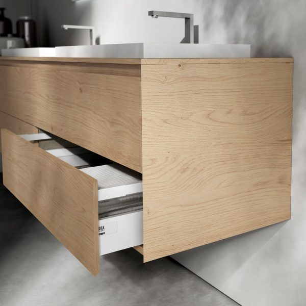 Door and drawer fronts with 45 degree edges on all sides
