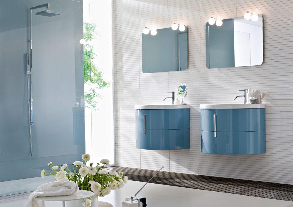 mobili bagno con lavabo curvo in ceramica - ideagroup - Arredo Bagno Ideagroup Prezzi