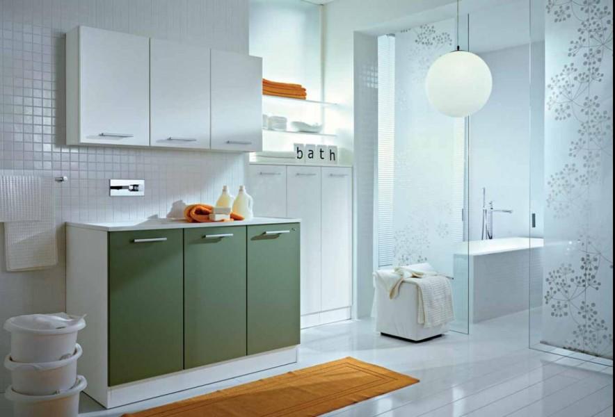 Mobile lavanderia spazio ideagroup - Lavatrice in bagno soluzioni ...