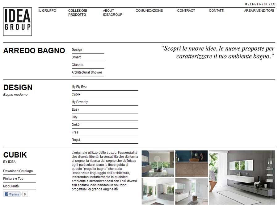 Restyling sito ideagroup.it