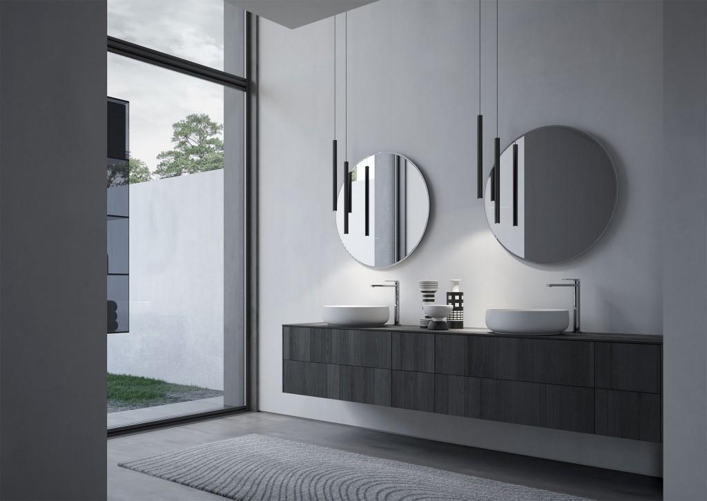 Mobili bagno sense arredo bagno di design ideagroup - Mobile bagno due lavabi ...