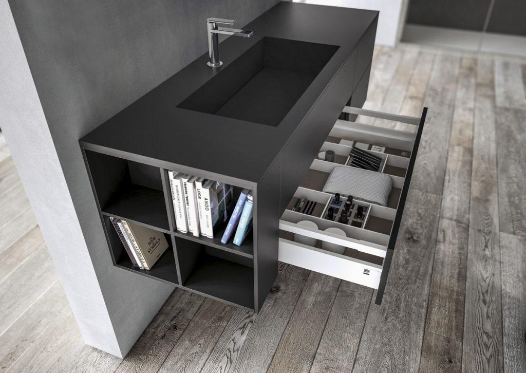Mobili bagno sense arredo bagno di design ideagroup - Lavandino bagno nero ...