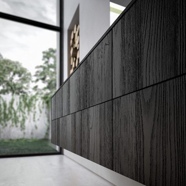 Finition bois, texture sablée