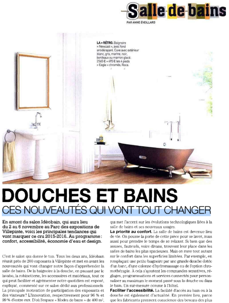 Sense by aqua in the october 2015 number of maison for Magazine maison francaise