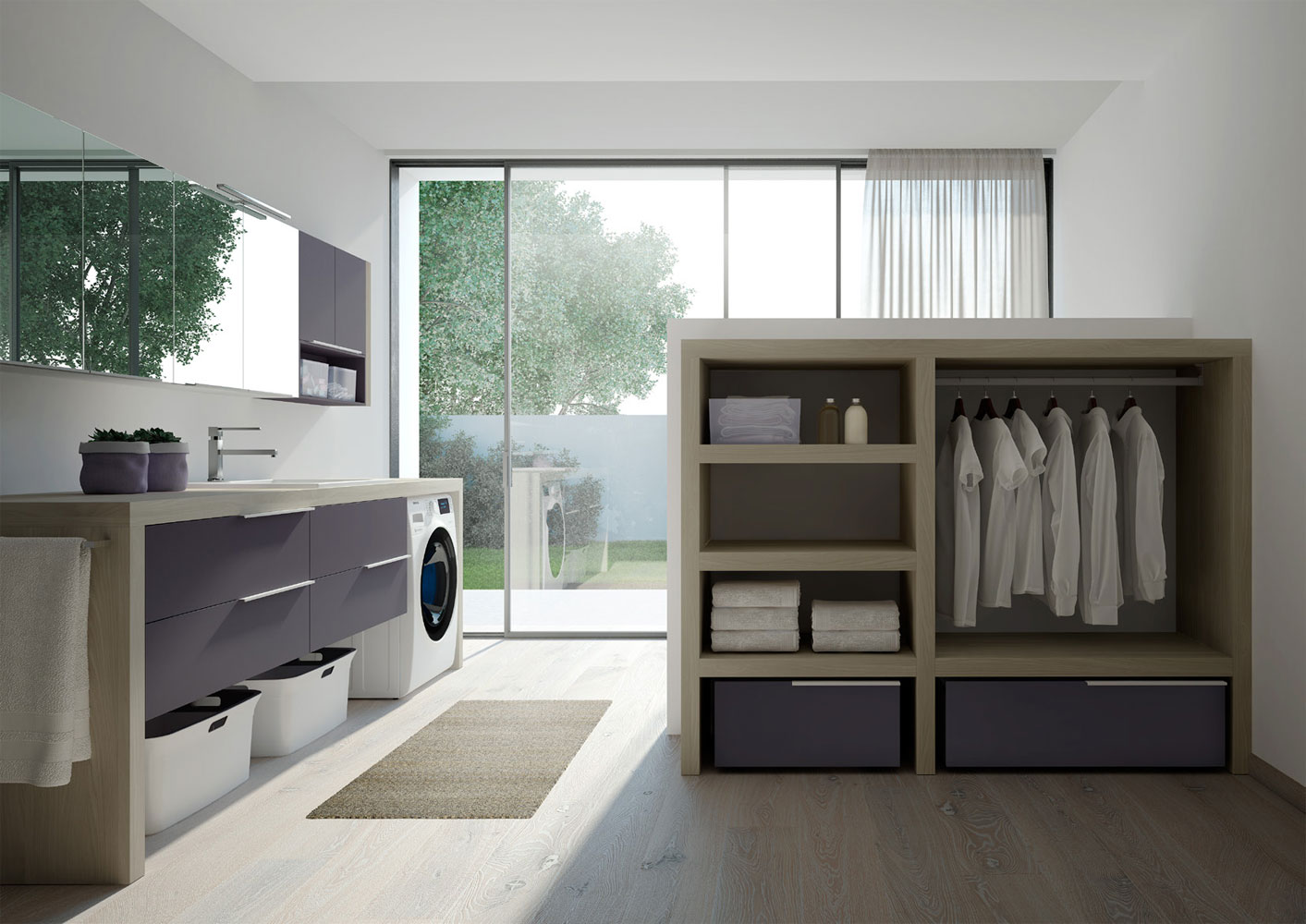 Furniture collection for laundry room spazio time - Idea arredo cucina ...