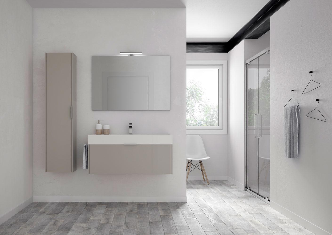 Mobili bagno basic stile minimalista e funzionali ideagroup for Immagini di arredo bagno