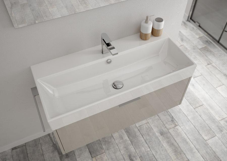 mobili bagno basic, stile minimalista e funzionali - ideagroup - Blob Arredo Bagno