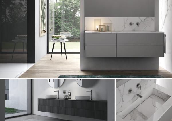 arredobagno mobili bagno sense by aqua ideagroup gres effetto marmo design
