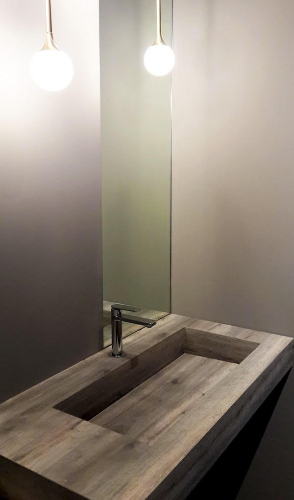 Come arredare un bagno industrial chic ideagroup blog for Arredo bagno design