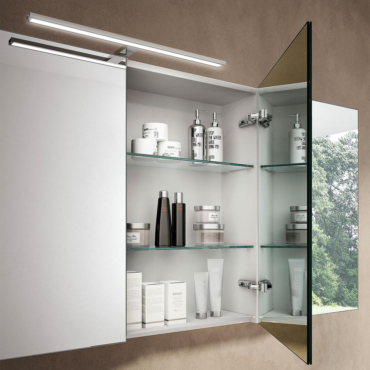 Pensile Specchio Contenitore Per Bagno.Come Scegliere Lo Specchio Per Il Bagno Ideagroup Blog