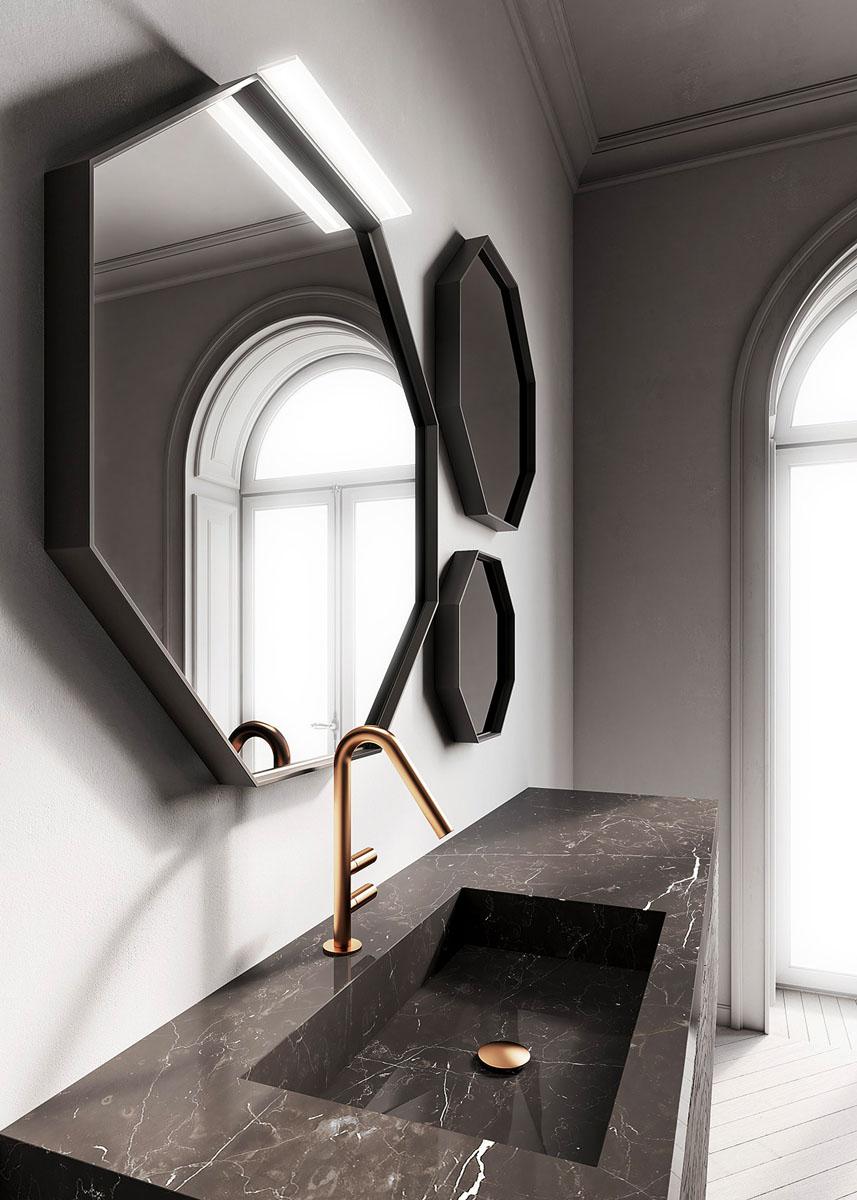 Specchio Per Lavandino Angolare come scegliere lo specchio per il bagno - ideagroup blog