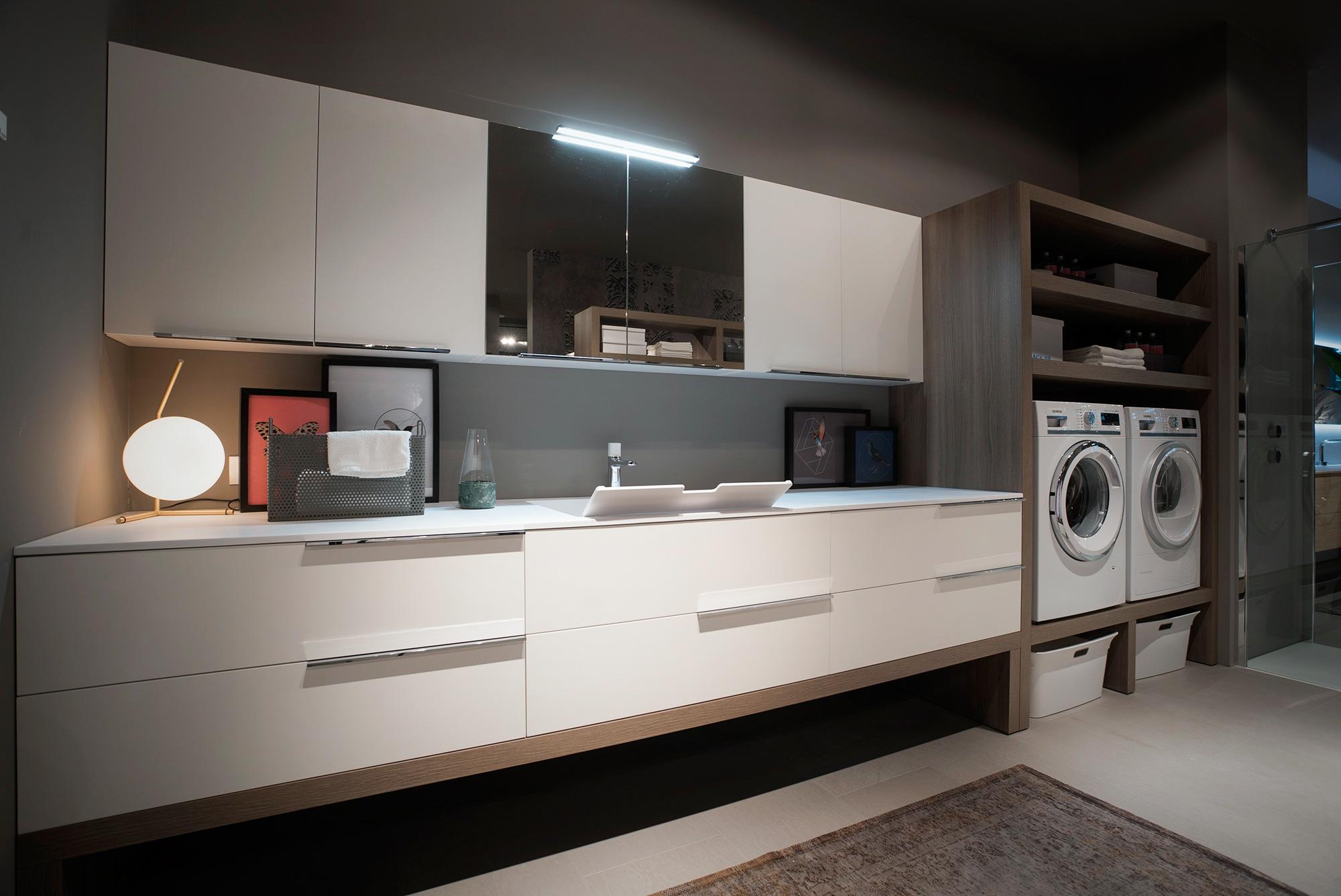 Ottimizzare gli spazi come arredare un bagno lavanderia