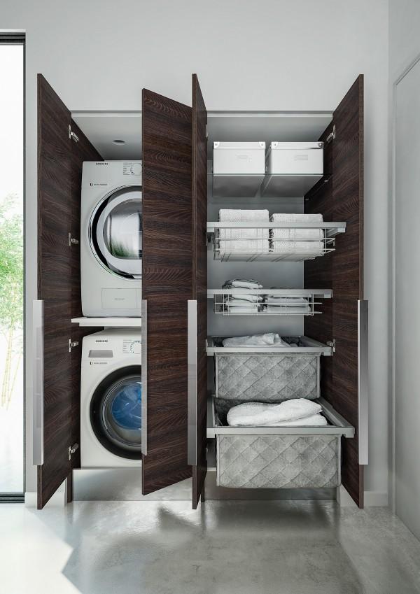 Lavanderia invisibile come progettarla nel bagno di casa for Arredo bagno lavatrice