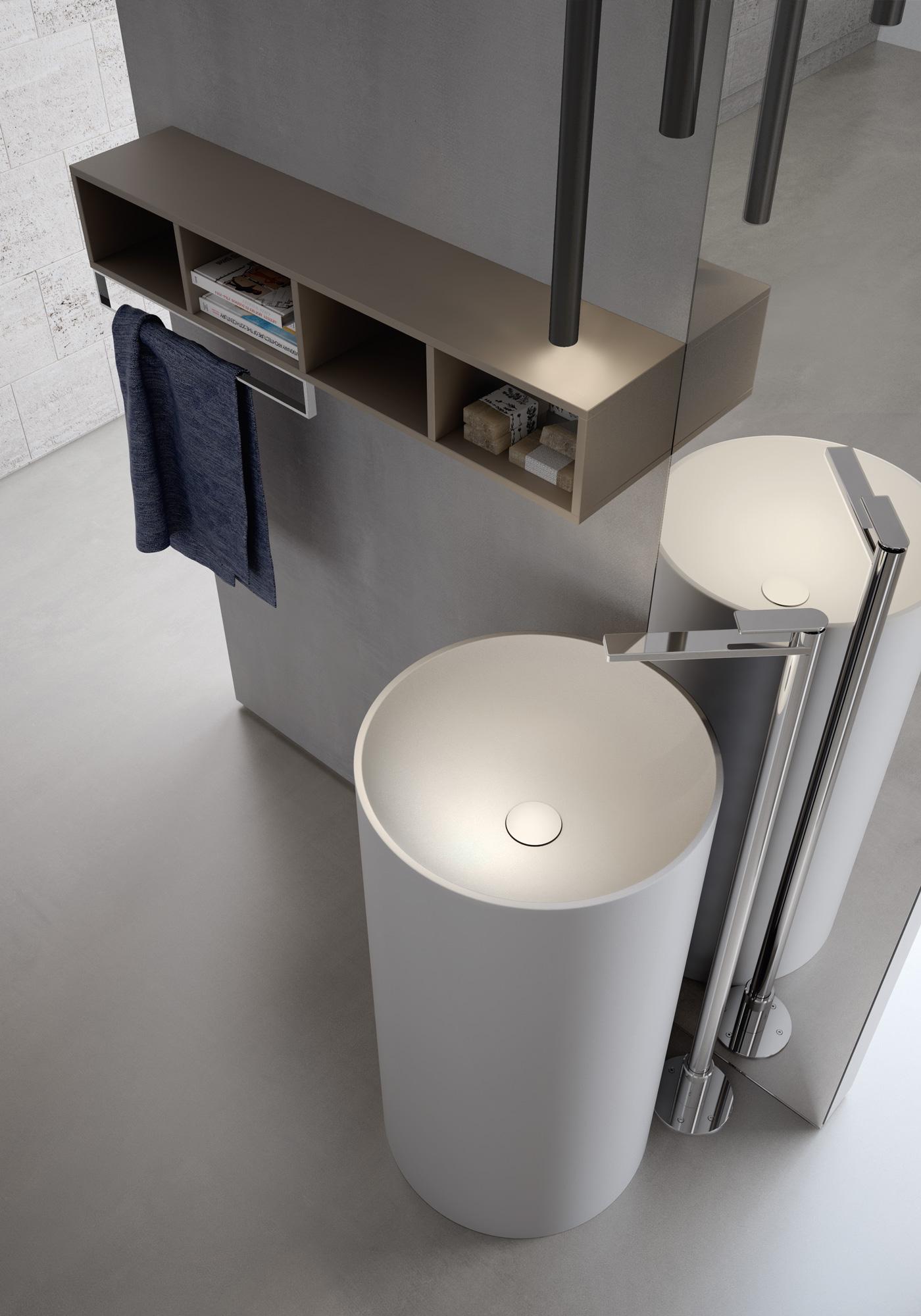 arredamento 2017 - lavabo monoblocco tondo