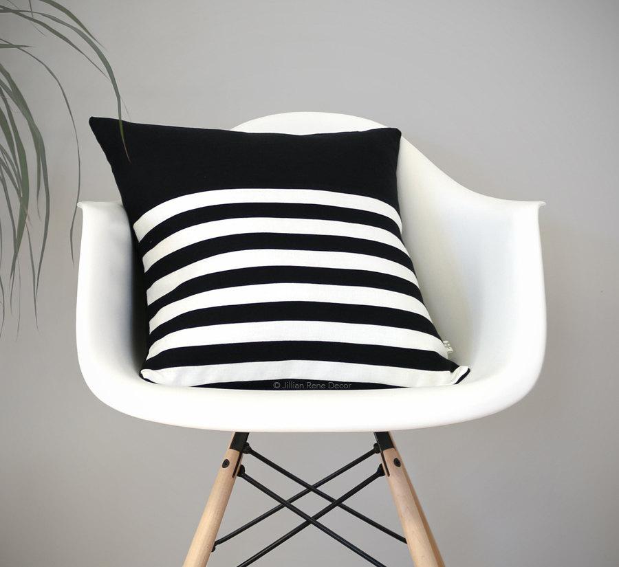 tendenza righe arredamento - cuscino