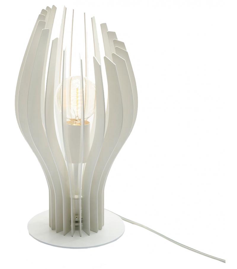 lampada da tavolo bianca di zava