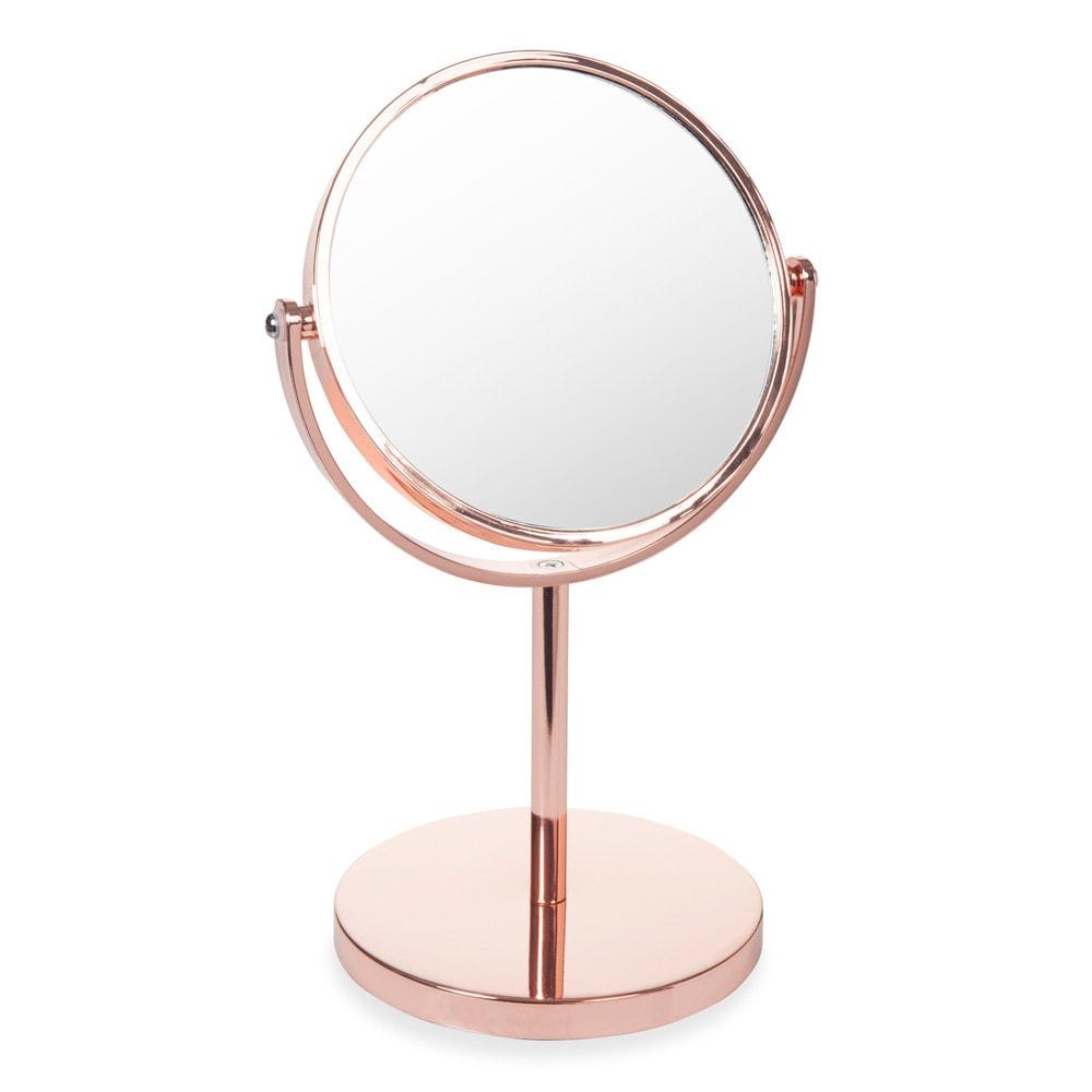 specchio da tavolo rose gold