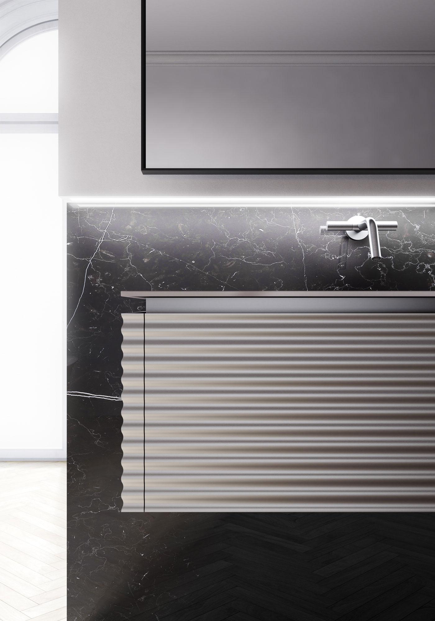 lusso accessibile - laccatura metallizzata della collezione dolcevita by aqua di ideagroup arredo bagno