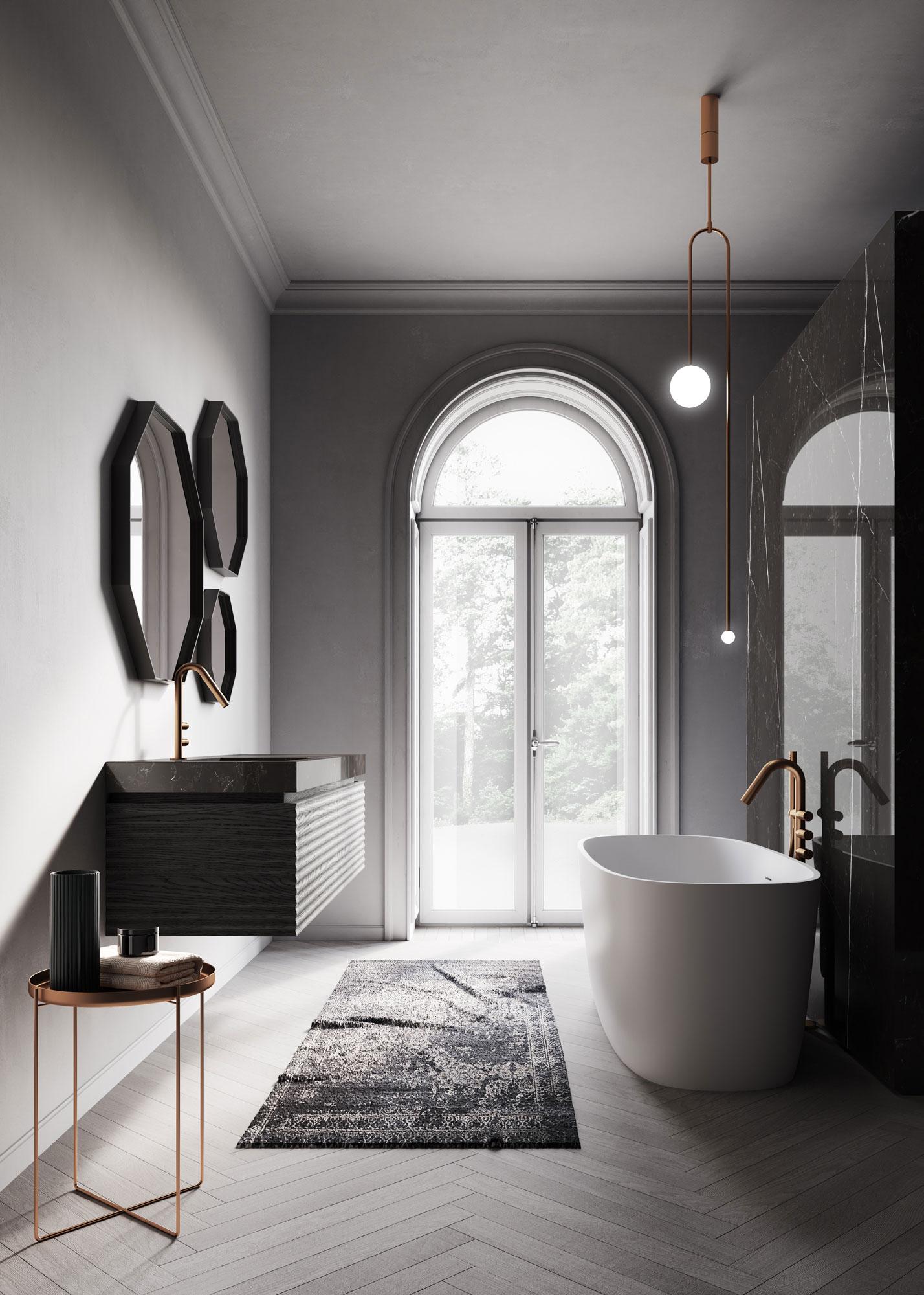 Lampada Sopra Specchio Bagno lampadario per il bagno: alcune ispirazioni di design