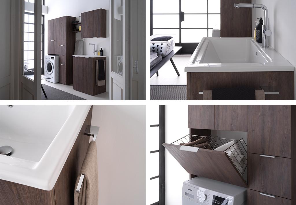 Come inserire l 39 asciugatrice in un bagno piccolo for Mobili piccoli bagno