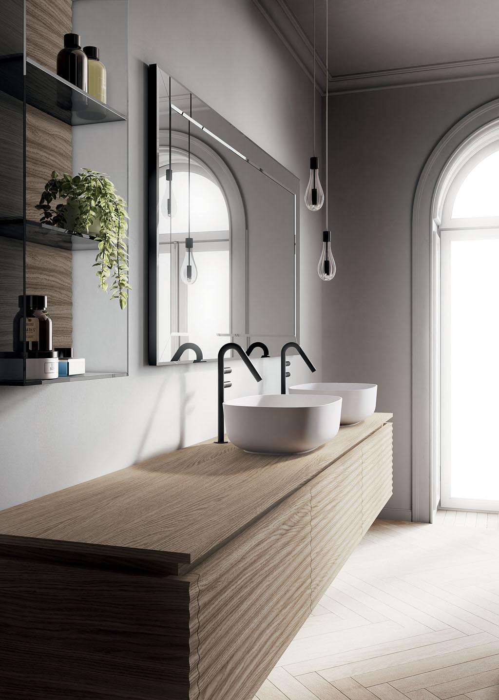 Mobile Bagno Lavandino Incasso doppio lavabo e altre soluzioni per non litigare - ideagroup