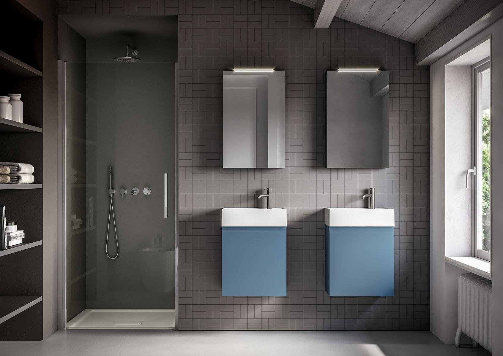 Bagno 2 X 2 una sola collezione, infiniti stili: il design versatile di